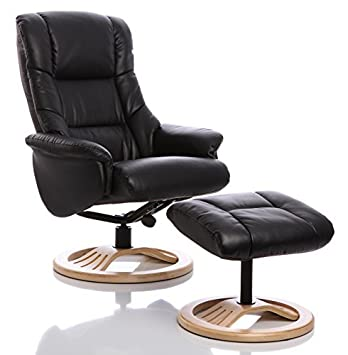 The Mandalay Bonded Leather Recliner Swivel Chair In Dark Chocolate Brown Black