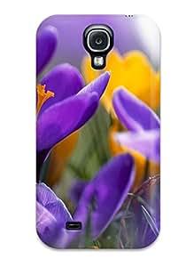 LuisReyes6568776's Shop Defender Case For Galaxy S4, Purple Crocuses Pattern 7009313K35700167