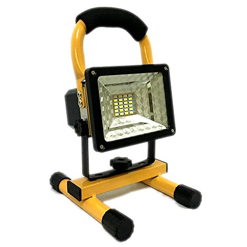 15W 24 LED Spotlight Rechargeable Work Light, Outdoor Cam...