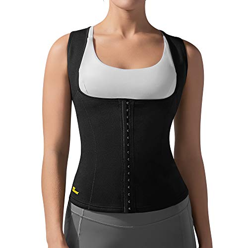 HOT SHAPERS Cami Hot Waist Cincher Slimming Sweat and Workout Vest for Weight Loss A Thermogenic Sauna Body Suit and Compression Girdle for Women Achieving a Slim Figure