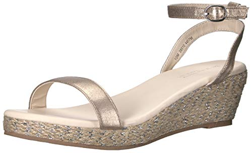 (Touch Ups Women's Bailey Espadrille Wedge Sandal, Nude, 11 M US)