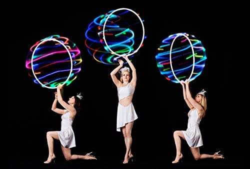 18 Color Strobing and Changing Hoop for Kids and Adults willway 32 inch LED Hoop yutuo 32 inch Lightweight /& Collapsible