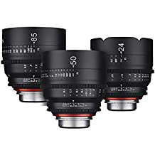 3-Lens Xeen T1.5 PL Mount Set (24mm, 50mm & 85mm)