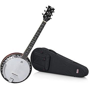 Dean BW6 Backwoods 6 String Banjo with Hard Shell Case