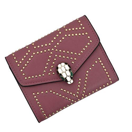 Women's Small YILINRUI Credit Card Holder Wallet Mini Canvas Leather Coin Purse