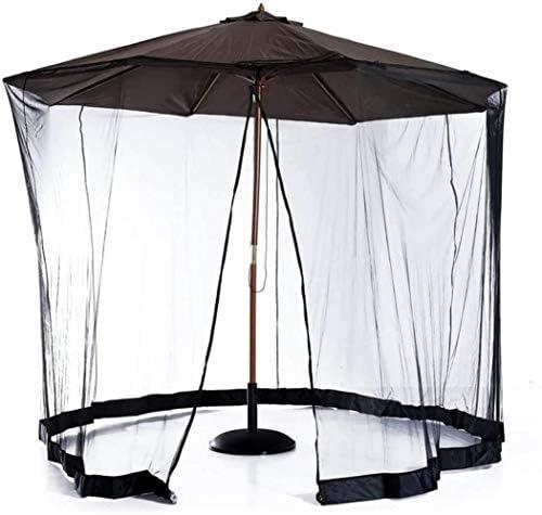 パラソル 屋外のガーデン傘表画面パティオ傘蚊帳、傘ネットカバースクリーン、ジッパー付きポリエステルメッシュスクリーン