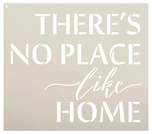 """There's No Place Like Home - Word Stencil - 17"""" x 15"""" - STCL1884_4 - by StudioR12"""