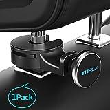 Headrest Mount MEIDI Car Backseat Purse Hanger Hook Universal Tablet Headrest Mount Organizer Magnetic Phone eReader iPad Holder (Silver)