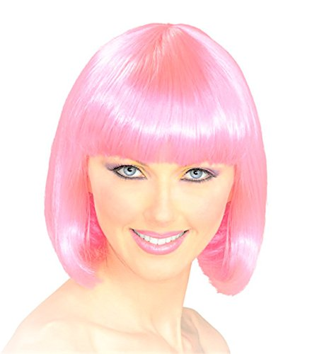 A Labs Bob Wig - Party Wig - Pink Bob Wig - Cosplay Hair Wig for Women and (Short Funny Halloween Jokes For Adults)