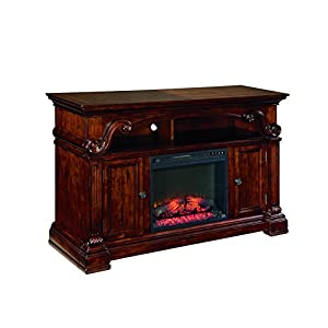 Altra Furniture Manchester Tv Stand With Fireplace 70 Black
