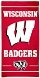 NCAA Wisconsin Badgers Beach Towel, 30 x 60 inches, fiber