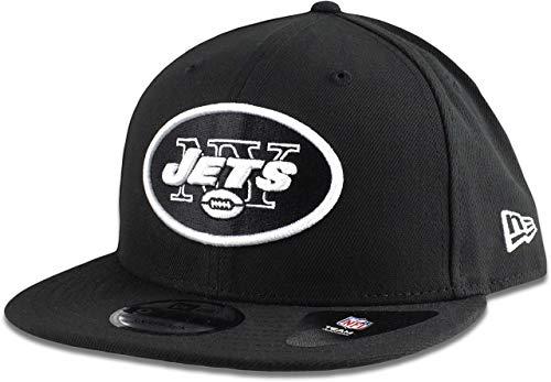 Nfl Hat New York Jets - New Era New York Jets Hat NFL Black White 9FIFTY Snapback Adjustable Cap Adult One Size
