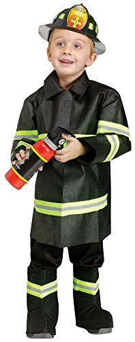 Fun World Costumes Baby Boy's Toddler Fire Chief Costume, Black, -