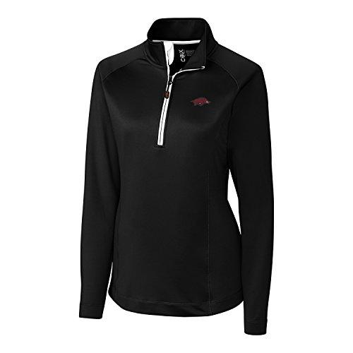 Arkansas Apparel Razorback - CBUK NCAA Arkansas Razorbacks Women's Jackson Half Zip Overknit Jacket, Medium, Black