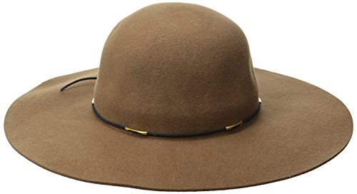 Scala Women's Felt Floppy Hat with Wax Cord Trim, Pecan, ...