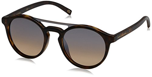 Marc Jacobs Women's Marc107s Round Sunglasses, Matte Havana/Brown Ochre Silver Sp, 99 - Jacobs Marc Brown