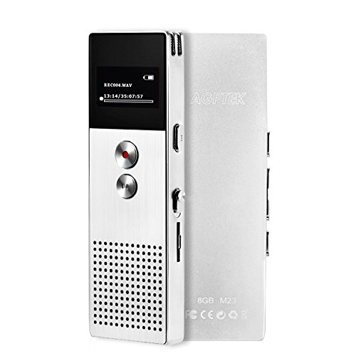 AGPtEK M23 8GB Digital Voice Recorder, MP3 Player with ...
