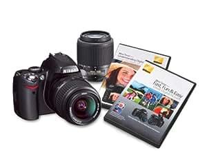 Nikon D40 6.1MP Digital SLR Camera with 18-55mm f/3.5-5.6G ED II AF-S DX and 55-200mm f/4.5-5.6G ED AF-S DX Zoom-Nikkor Lens with 2 Nikon School DVD