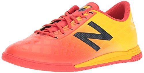 New Balance Boys' Furon V4 Soccer Shoe, Flame G, 4 W US Big Kid ()