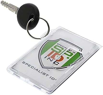 NEW Rigid Quality Double Sided ID CARD HOLDER Credit Fuel Heavy Duty Secure Slim