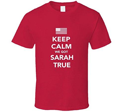 Sarah True Keep Calm Team USa 2016 Olympics Triathlon T Shirt 2XL - Triathlon Usa Team