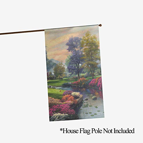 Flagology.com, Thomas Kinkade, Living Waters I - House Flag - 28