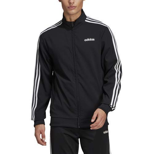 adidas Essentials Men's 3-Stripes Track Jacket, Black/White, XX-Large by adidas