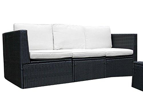 Gartenmöbel 3tlg. Sitzgruppe Poly Rattan Lounge Garten Garnitur ...