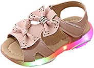 WILLTOO Toddler Baby Girls Sport Summer Light-Up Sandals LED Luminous Flat Shoes Sneakers 1-6 Years Old