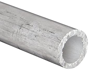 "Aluminum 6061-T6 Seamless Round Tubing, ASTM B210, 1-1/4 OD, 1"" ID, 1/8 Wall, 12"" Length"