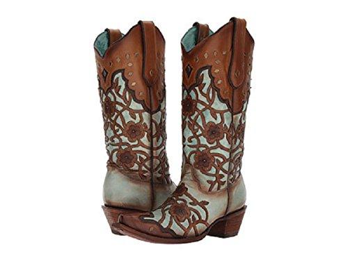 Corral Womens Mint Esdoorn Bloem Overlay Boot C3176