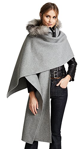 Mackage Women's Helina X Poncho, Grey Melange, One Size by Mackage