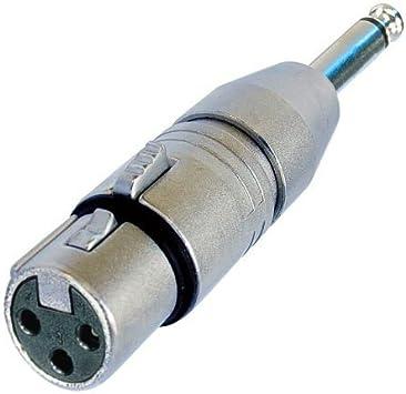 "Neutrik NA2FP 3 Pin XLR Female to 1//4/"" Mono Plug Adapter"
