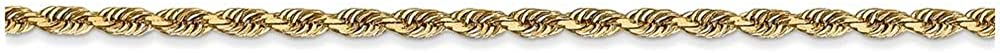Smaller Ankles Finejewelers 9 Inch 14k Yellow Gold 2.25mm bright-cut Quadruple Rope Chain Ankle Bracelet