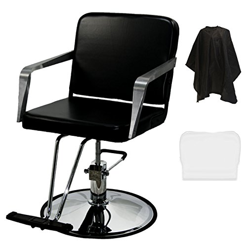LCL Beauty Salon Hydraulic Barber Styling Chair with FREE Deluxe Cutting Cape by LCL Beauty
