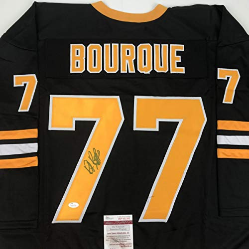 Autographed/Signed Ray Bourque Boston Black Hockey Jersey JSA COA