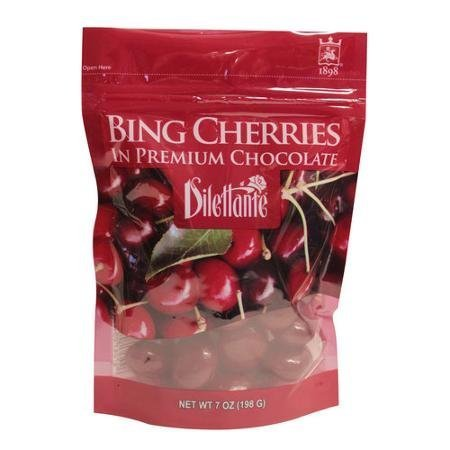 Dilettante Bing Cherries in Premium Chocolate, 7 oz, Pack of 3 by Dilettante