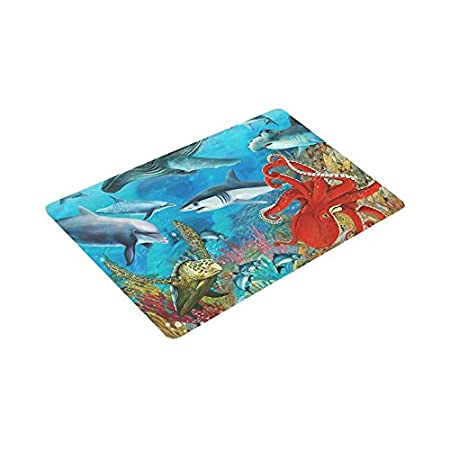 Interestprint Dolphins Sea Turtle Shark Octopus Coral Reef
