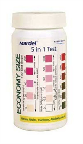 Mardel 5-in-1 Test Strips (Freshwater/Saltwater), 100-Count