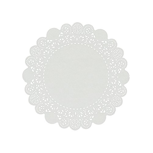 Royal 8 Inch Disposable Paper Lace Doilies, Package of 500 ()