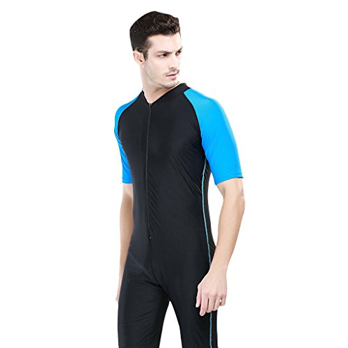 Newstep Men's Training Tank One-Piece Short-sleeved Sun Protection Wetsuit Black Size Small