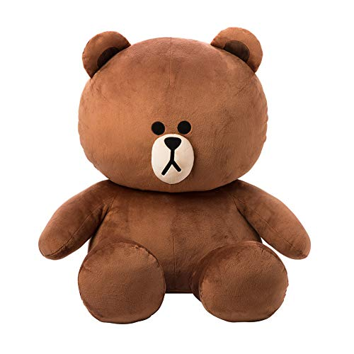 LINE FRIENDS Plush Figure – Brown Character Design Stuffed Animal Toy 30″
