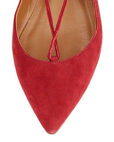 Coupe Rouge Rouge Fermées 44 Femme Kolnoo awIdqSa