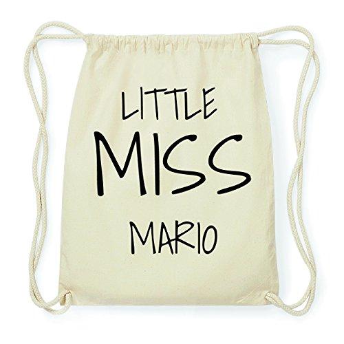 JOllify MARIO Hipster Turnbeutel Tasche Rucksack aus Baumwolle - Farbe: natur Design: Little Miss