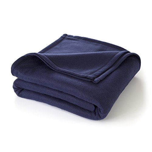 Legacy Bunk Bed - Martex Super Soft Fleece Blanket - Twin, Warm, Lightweight, Pet-Friendly, Throw for Home Bed, Sofa & Dorm - Navy