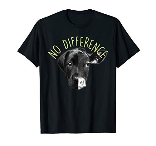 No Difference Cows And Dogs Animal Vegan Funny T Shirt ()