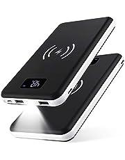KEDRON Power Bank 20000mAh Caricabatterie Portatile Caricatore Wireless con Display LCD Digitale e 3 Porte USB & 2 Porte di Entrata Batteria per Telefono Android e Altri dispositivi USB