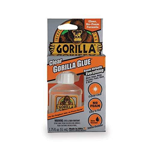 Gorilla Clear Glue, 1.75 ounce Bottle, Clear (Pack of 1) ()
