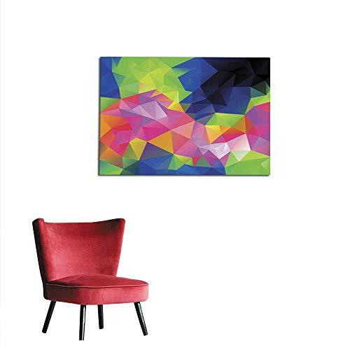 homehot Corridor/Indoor/Living Room Infra neon Spectrum Polygon Background Mural 36