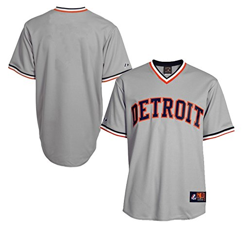 - Detroit Tigers Majestic Big & Tall Cooperstown Mens Replica Jersey - Gray - Size 3XLT